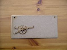 #Wooden arsenal gun plaque #blank #approx 20 cm x 10 cm in mdf,  View more on the LINK: http://www.zeppy.io/product/gb/2/201508891690/