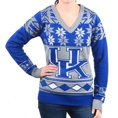 NFL Women's V-Neck Sweater, Detroit Lions, Medium Acrylic officially licensed by KLEW Great for ugly swatter parries The perfect item for any true fan! Detroit Lions Hat, Detroit Lions T Shirts, Women's V Neck Sweaters, Ugly Sweater, Nfl Fans, Kentucky Wildcats, Sport Outfits, Clothes For Women, Logo