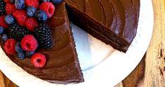 Healthy Vegan Sugar-Free Gluten-Free Chocolate Cake | POPSUGAR Fitness Gluten Free Chocolate Cake, Decadent Chocolate Cake, Sugar Free Chocolate, Chocolate Frosting, Whole Food Recipes, Cake Recipes, Japanese Sweet Potato, Fruit Ice Cream