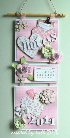 This calendar is so adorable! Could be done seasonally.