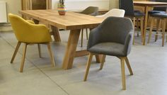 Židle TEO 46 Oak Table And Chairs, Dining Chairs, Wood Tables, Wood Design, Chair Design, Home Office, Furniture, Home Decor, Wooden Tables