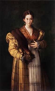 "renaissance-art: "" Parmigianino c. 1535 Portrait of a Young Lady """