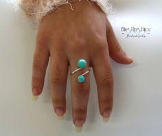 Bling Ring - Bijou: Anel Cornucópia Turquesa