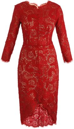Inspirasi Red lace dress  beli brokat di TOKO KAIN MEDIUM (add facebook ya) kami jual kain murahnya :)