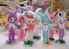 e62d93ac63d Easter Bunny Vintage Inspired PINK Chenille Easter Bunny Easter Tree