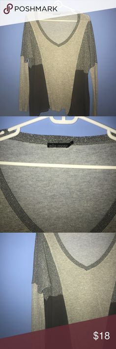 Ella moss sweater Very cute color block sweater from Ella Moss!! Super soft!! Ella Moss Sweaters V-Necks