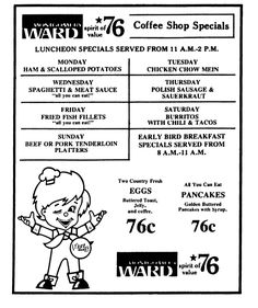 Montgomery Ward Coffee Shop - July 1976