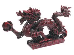 Dragon with Pearl Statue - 3.25in,(H) x 5.5in.(W)  Material:Resin. Colors: Mahogany (gtc-hd) (crd)  US $5.50. http://pearlriver.com/product/0851.jpg