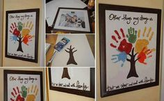 DIY Family Hand Print Tree Wall Art