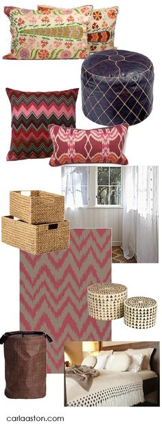 #Bohemian Style College #Dorm Room Decor - w/links to shop