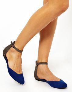EC Konnie 2 Part Pointed Flat Shoes $32.02