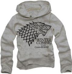 Game of Thrones - Logo Stark - Kaputzenpullover - Grau - Größe Small