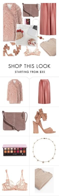 """i think about you all the time"" by claireelizabetth ❤ liked on Polyvore featuring A.L.C., Topshop, SKINN, Gianvito Rossi, Anastasia Beverly Hills, Lee Angel Jewelry, Agent Provocateur, MANGO and Michael Kors"