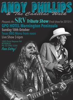 a7709304874 http   www.andyphillipsandthecadillacwalk.com  STEVIE RAY VAUGHAN Tribute