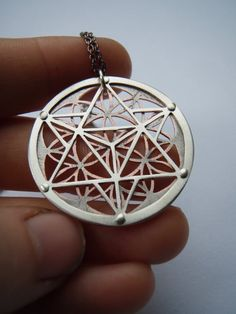Silver flower of life pendant sterling silver plated sacred star tetrahedron and flower of life pendant sterling silver and copper handcrafted sacred geometry jewellery mozeypictures Gallery