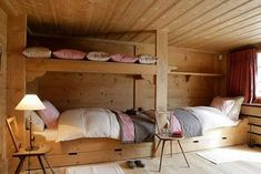Wooden bedroom chalet – xn – … Source by milartist Chalet Design, Ideas Cabaña, Bedroom Reading Nooks, Different House Styles, Bunk Beds Built In, Chalet Interior, My French Country Home, Bunk Rooms, Wooden Bedroom