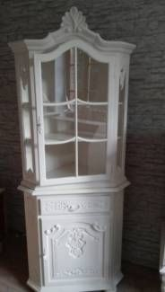 schrank antik chippendale vitrine im shabby look shabby interior chippendale m bel shabby. Black Bedroom Furniture Sets. Home Design Ideas
