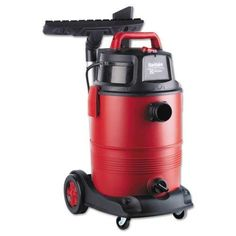 Electrolux Sanitaire Commercial Wet Dry Vacuum, Red - Does just what it is supposed to do and made well!This Electrolux that is ranked Car Wash Business, Vacuum For Hardwood Floors, Commercial Vacuum, Vacuum Reviews, Kitchen Vacuum, Cordless Circular Saw, Canister Vacuum, Shop Layout
