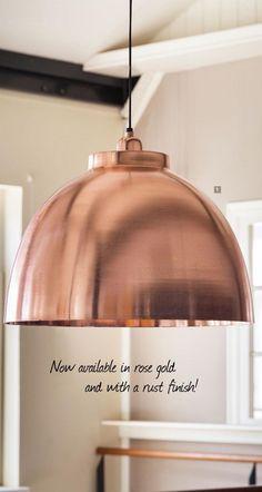 Hanging lamp cm KYLIE X-large matted copper Hanging Lights, Rose Gold Pendant Light, Ceiling Lights, Ceiling Rose, Hanging Lamp, Live Light, Pendant Light, Light, Copper Hanging Lights