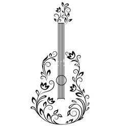 Guitar Clipart Illustration by Seamartini Graphics - Stock Sample Guitar Sketch, Guitar Drawing, Guitar Art, Music Sketch, Music Guitar, Music Drawings, Easy Drawings, Drawing Sketches, Tattoo Drawings