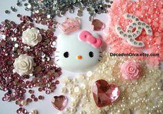 DIY pink decoden kit bling cabochons