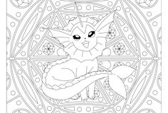 vaporeon pokemon 134 pokemon coloring pagescolouring