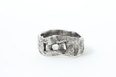 Image of Unisex walled Silver Ring