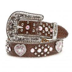 Nocona Brown Heart Concho Belts - Belts & Buckles - Accessories - Kids