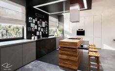 Wnętrze domu pod Radomiem - Kuchnia / Grupa Ładniej