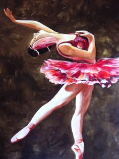 Ballerina art painting