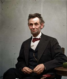 Abe Lincoln Color Photo