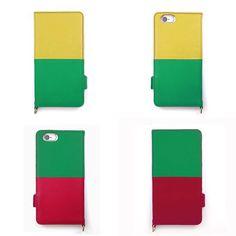 【 本革 + 日本製 】絵になるオトナの iPhoneケース | iPhone 6/6s & Plus 対応 | Genuine Leather Wallet Case for iPhone 6 / 6s and iPhone 6 / 6s Plus.  Jaune x Sapin and Sapin x Vin