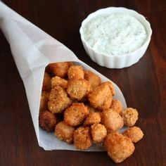 """Vegan Popcorn Chicken recipe - click on picture for recipe.  Yummo."" #chicken #recipe"