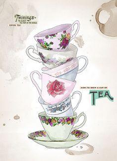 Quiero un set nuevo de tazas exclusivamente para el moemento tea time!