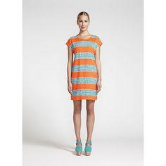 Marimekko Pompuli Orange/Turquoise Tunic