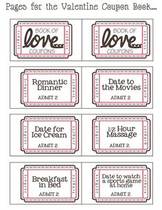 Mommy by day Crafter by night: {Free Printable} Valentine Coupon Book