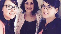 Le trio des « Filles en rose ». De gauche à droite : Lise Vrignaud, Adeline Sachot et Sophie Drapeau. Les Herbiers