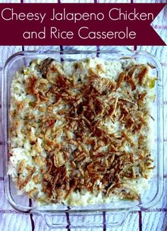 Cheesy Jalapeno Chicken and Rice Casserole... with Crockpot Modification... SEAL OF APPROVAL