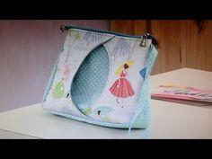 Bolsa de tecido de mão ou necessaire Lolita passo a passo - Maria Adna Ateliê - Bolsas de tecido - YouTube