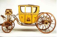 The Berlin Coach, invented around 1660 in the Prussian capital city of Berlin.