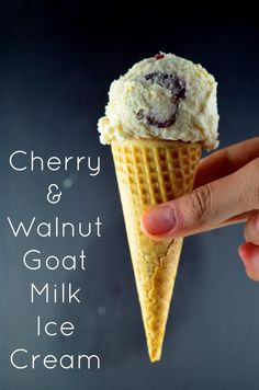 May I Have That Recipe | Cherry and Walnut Goat Milk  Ice Cream | http://mayihavethatrecipe.com