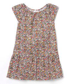 Look what I found on #zulily! Black Floral A-Line Dress - Kids & Tween #zulilyfinds
