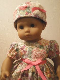 Spring Floral Dress Hat & Shoes for Bitty Baby by fashioned4you