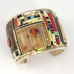 Colorful Inlay Cuff