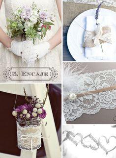elementos clave para una boda vintage