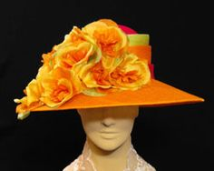 Custom hats millinery Kentucky Derby women's hats mens Gena Conti couture casual Millinery MI