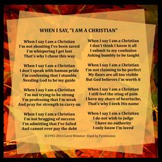 When I say I'm Christian. Then Sings My Soul, Gods Not Dead, Know It All, I Said, I Feel Good, Good Thoughts, Losing Me, Christian Quotes, Christianity