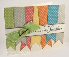 Nancy's CRAFTY blog: Dotty for You with Potential--ink the edge of each color makes it pop!