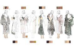 Vis-U-Al poems graduate collection sketchbook on behance. Fashion Illustration Sketches, Fashion Sketchbook, Fashion Design Sketches, Design Illustrations, Fashion Portfolio Layout, Portfolio Design, Fashion Line, Fashion Art, Drawing Fashion