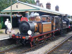 Stepney- Terrier locomotive at the Bluebell Railway